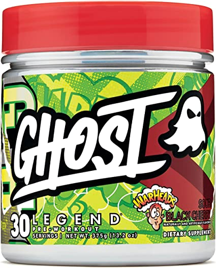 Amazon.com: Ghost Legend Pre-Workout Warheads Sour Black Cherry ...