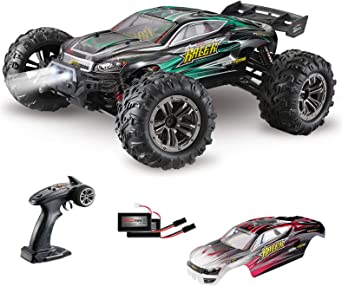 Amazon Com Miebely Rc Cars 1 16 Scale All Terrain 4x4 Remote Control Car For Adults Kids 40 Km H Waterproof Off Road Rc Trucks High Speed Electronic Cars 2 4ghz Radio Controller 2 Batteries
