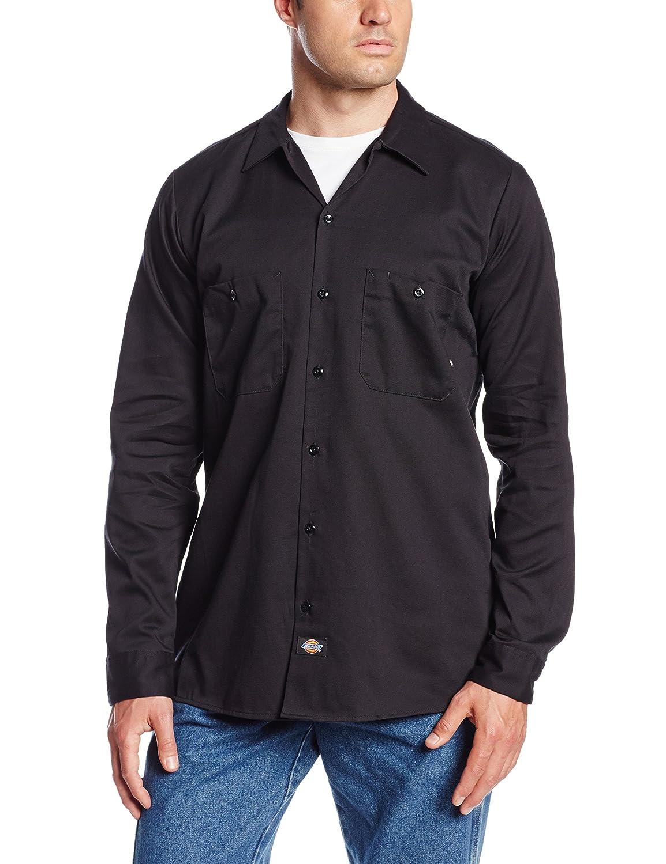 M 1 noir Noir Dickies Occupational Workwear Ll307bk Coton Chemise /à manches longues Chemise de travail industriel