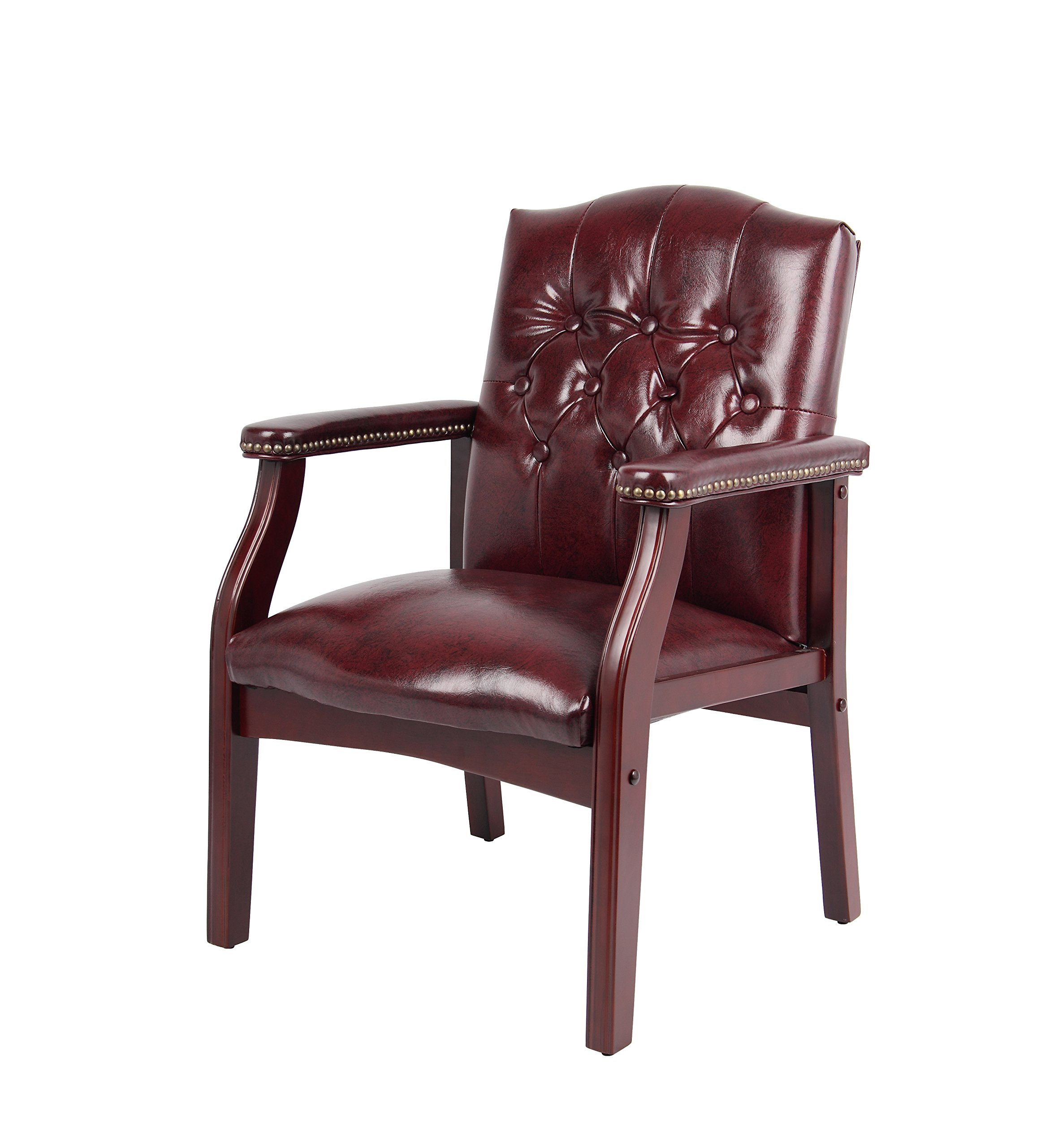 Boss Office Products B959-BY Ivy League Executive Guest Chair in Burgundy by Boss Office Products (Image #4)