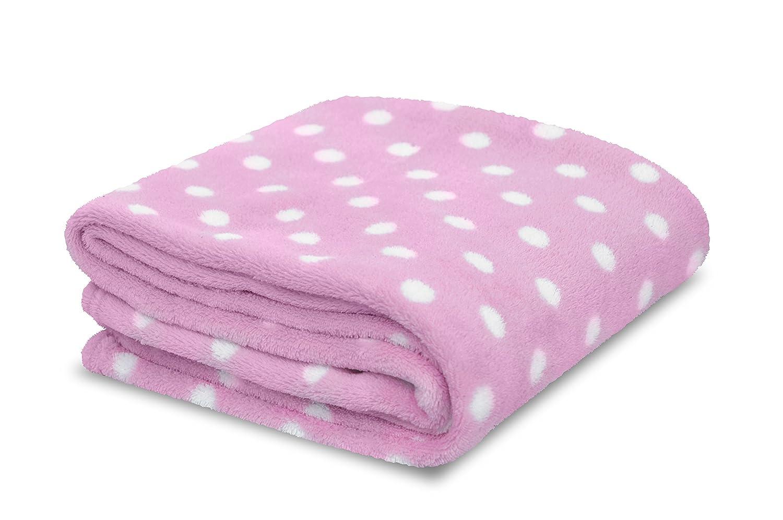 Little Starter Plush Toddler Blanket, Pink Dot by Little Starter   B015QBRCKS