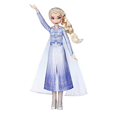 Disney Frozen Singing Elsa Fashion Doll with Music Wearing Blue Dress Inspired by The Frozen 2 movie, Toy For Kids 3 years & Up: Toys & Games