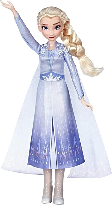 Disney Frozen Singing Elsa Fashion Doll With Music Wearing Blue Dress Inspired By The Frozen 2 Movie Toy For Kids 3 Years Up Toys Games