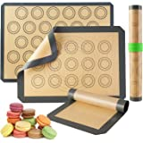 Silicone Baking Mats-Non Stick Cookie Sheet Macaron Mat Liner for Bake Pans & Rolling,Perfect Bakeware For Bread Making…