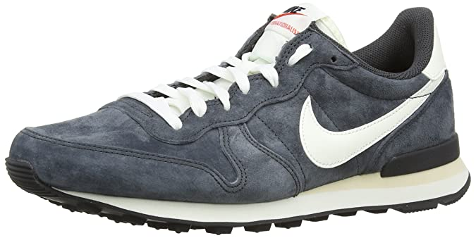 promo code c4032 bd5cb Nike Internationalist Pgs Leather, Men s Running Shoes, Grey  (Anthracite Sail Black Beach), 9.5 UK (44 1 2 EU)  Amazon.co.uk  Shoes    Bags