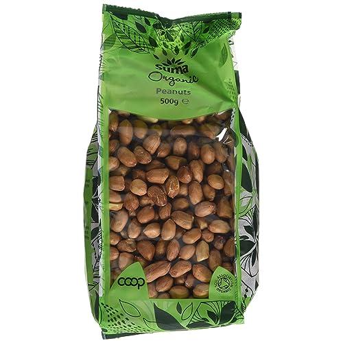 Suma Organic Peanuts 500 g (Pack of 6)