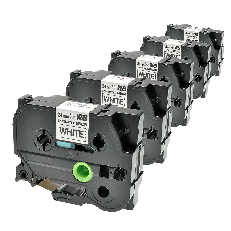 Schwarz auf Wei/ß Logic-Seek 5 Schriftb/änder kompatibel f/ür Brother TZE-251 P-Touch 2400 E 7500 VP 9200 PC DX Series 9800 PCN 350 550 H500 LI Series RL 700 S 24mm//8m