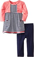 Little Me Baby Girls' Camellia Shrug Jersey Dress and Legging Set