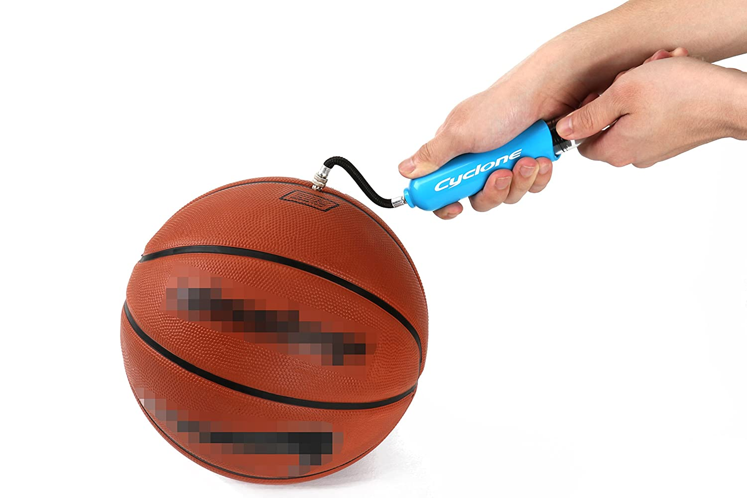 Dual Action Ball Pump Compact 6 Inches Mini Size With 4 Needles And 3 Inches Air Hose-Functional And Easy To Use Cyclone Sports