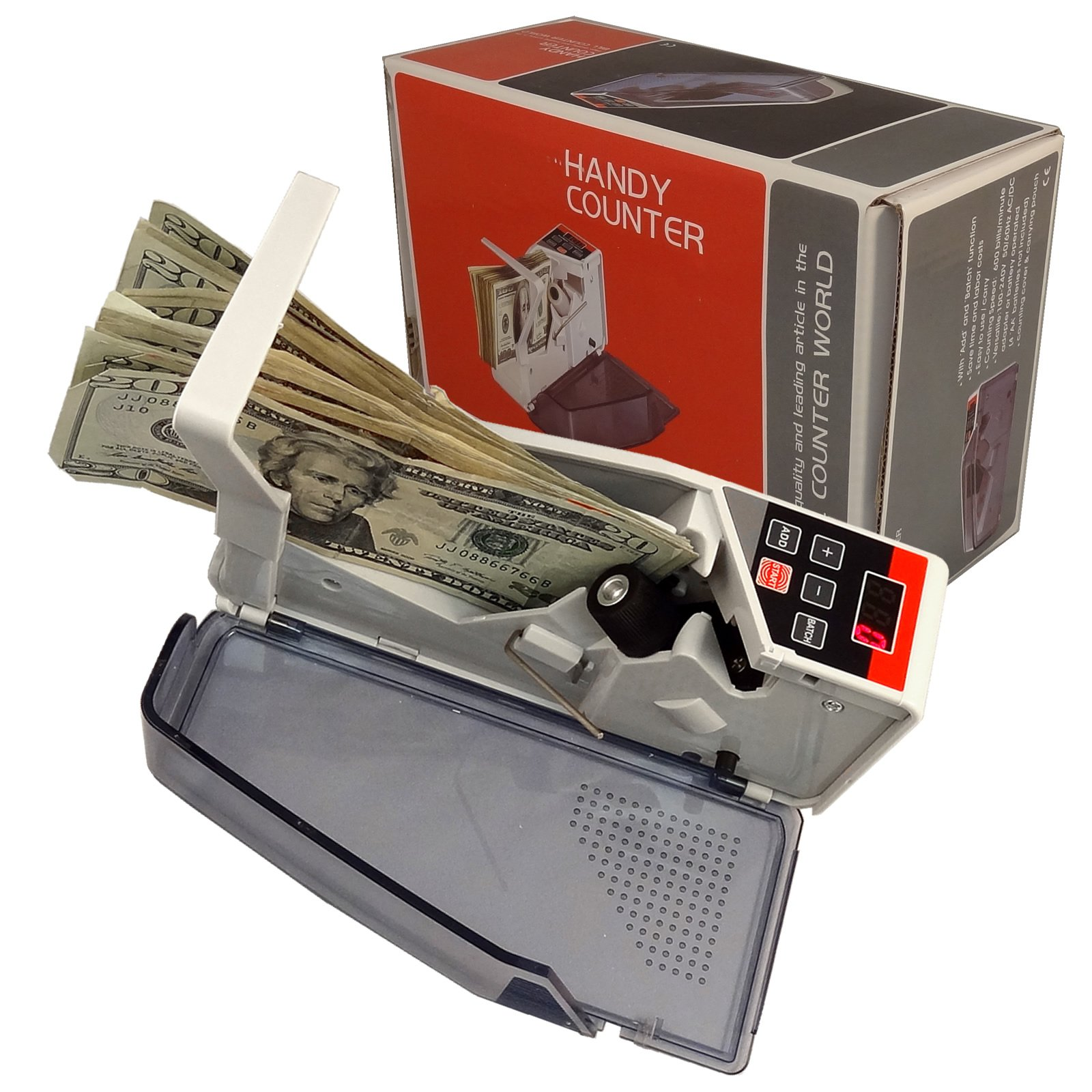 BlueDot Trading Mini Handy Worldwide Bill Cash Banknote Count V40 Money Currency Counter (portable-bill-money-counter)