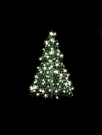 3 Ft. Indoor/Outdoor Pre Lit LED Artificial Christmas Tree With Green Frame