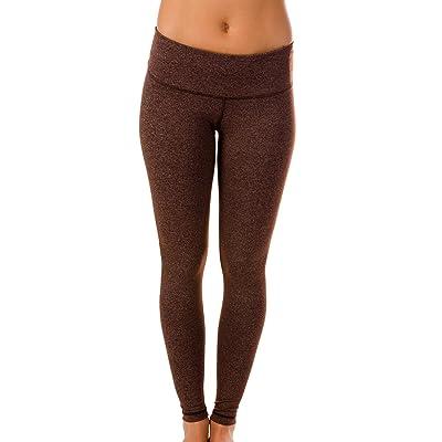 90 Degree by Reflex Power Flex Yoga Pants - Heather Chocolate - XS