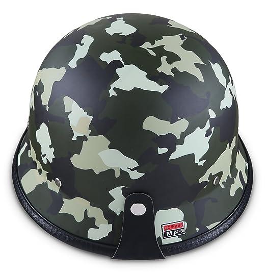 Amazon.es: Moto Helmets D33 Juego de - braincap piel wehrmachts Casco de acero mitad de cuencos de casco de moto casco de casco Vespa Roller de casco jet ...