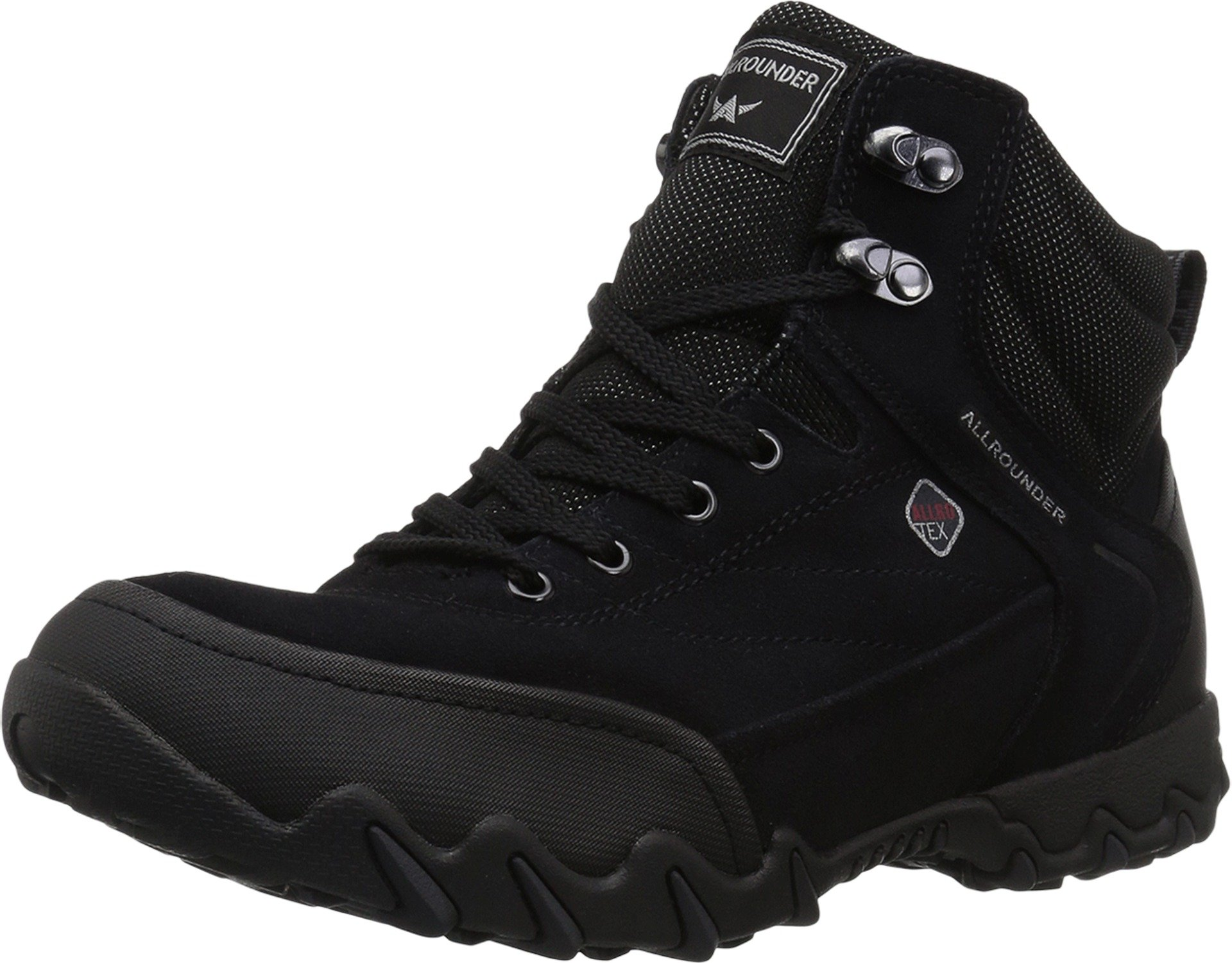 Allrounder by Mephisto Women's Nigata Tex Black Rubber/Charcoal Suede 37.5 M EU