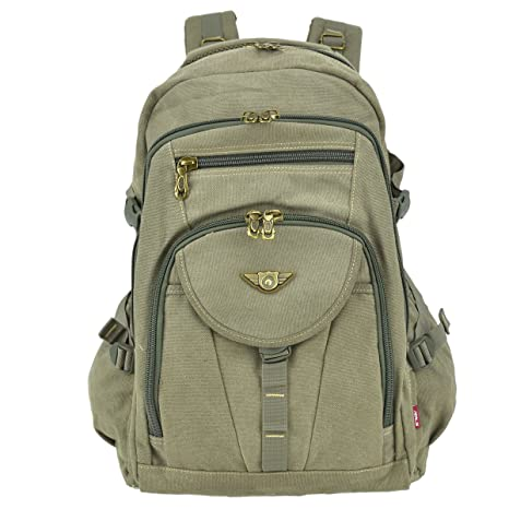 a695d0fd227b Unisex Large Capacity Outdoor Vintage Canvas Adventure Travel Camping Hiking School  Backpack