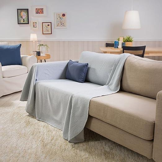 Sancarlos- Foulard multiusos GUIDO, 100% algodón suave, azul ...