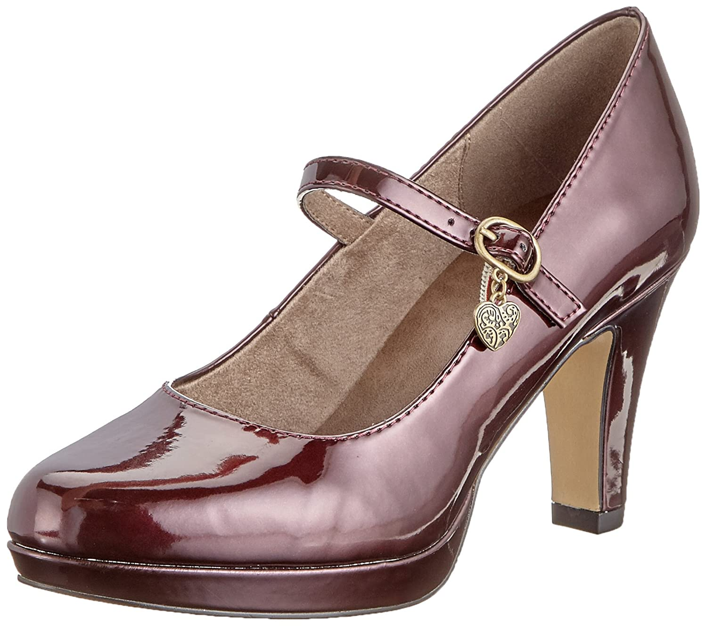 s.Oliver 24400-31, Zapatos de Tacón para Mujer 40 EU|Rojo (Wine Patent 517)