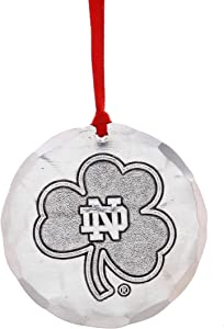 Wendell August Notre Dame University Ornament – Notre Dame Clover Logo, Hand-Hammered Aluminum Hanging Ornament, for Notre Dame Irish Fans - Made in USA Tree Decoration