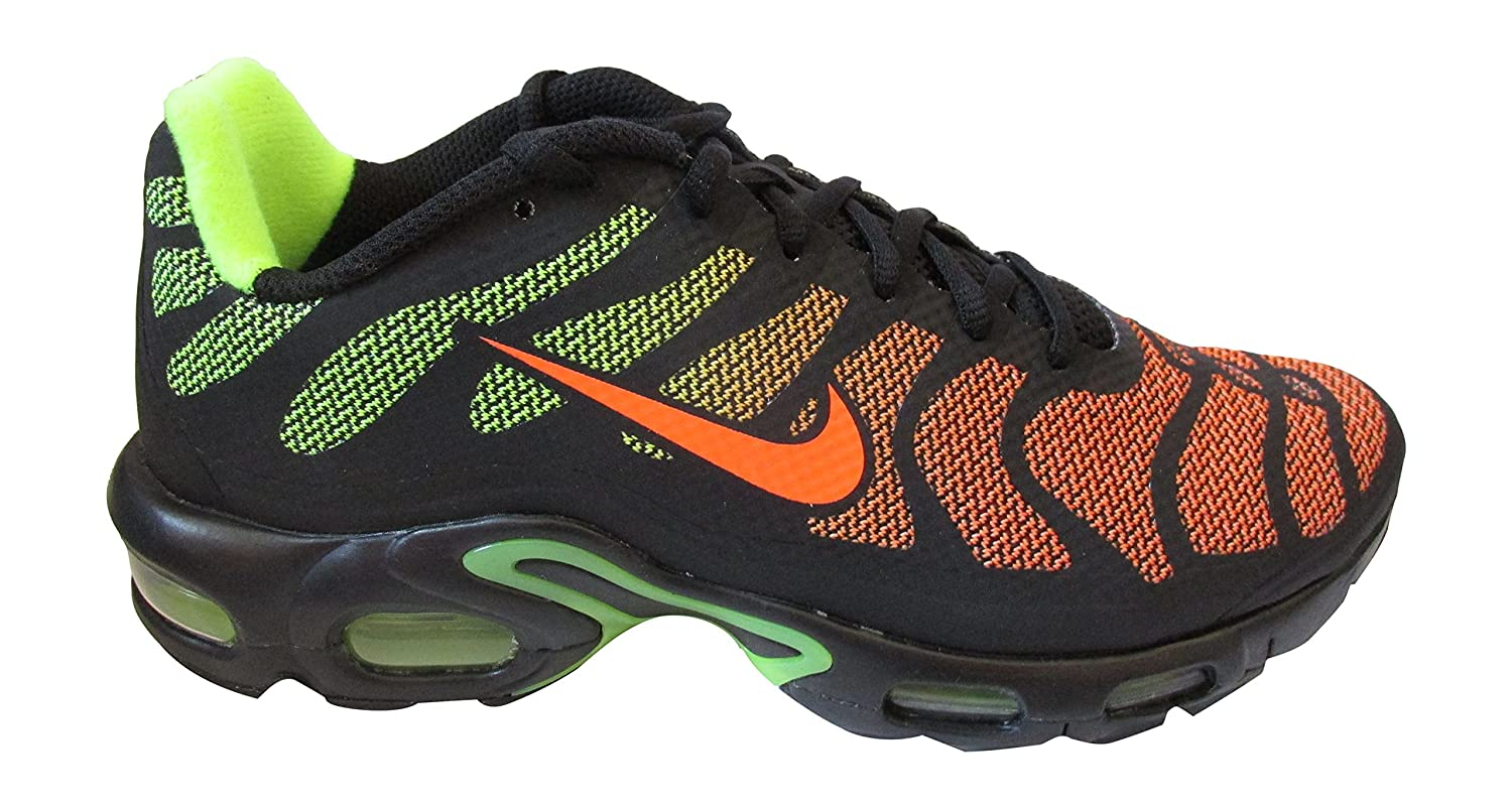 Amazon.com | NIKE Air Max Plus Fuse TN Tuned Hyperfuse Mens Trainers 483553  Sneakers Shoes (UK 5.5 US 6 EU 38.5, Black Hyper Crimson Volt 087) | Running