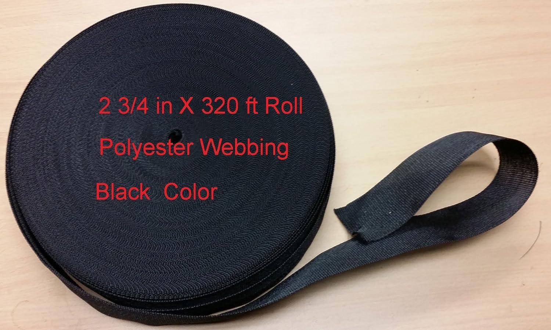 ポリエステル帯ひもブラック2 3 100ft/ B01B3GYS0W 4インチ幅X/ 320 ftロング 100ft PW275x320 B01B3GYS0W 100ft, フジオカシ:de456501 --- samudradata.com