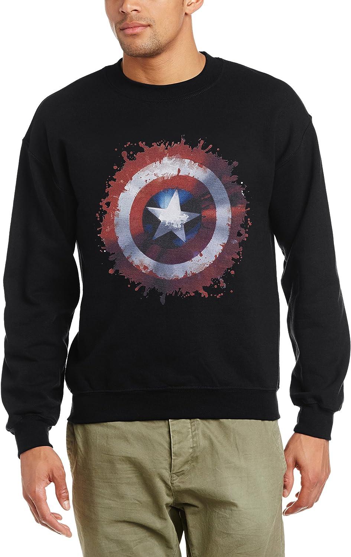 Marvel Men/'s Avengers Captain America Art Shield Hoodie