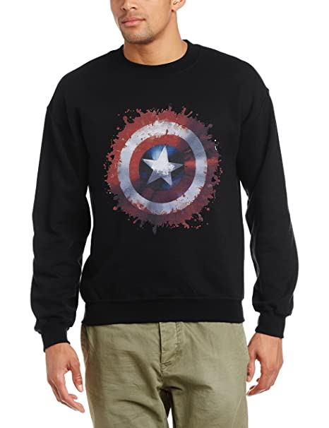 Marvel Avengers Assemble Captain America Art Shield - Sudadera Hombre: Amazon.es: Ropa y accesorios