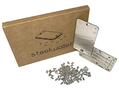 SteelWallet copia indestructible de claves privadas compatible con Ledger Nano S, Trezor wallet, KeepKey y carteras basadas en BIP39