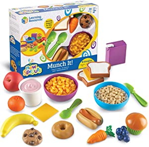 Learning Resources New Sprouts Munch It! Pretend Play Food, Toddler Outdoor Toys, Picnic Playfood, 20 Pieces, Ages 18 mos+
