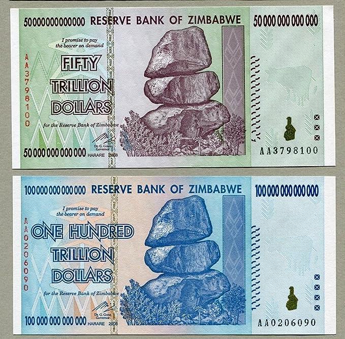 FULL BUNDLE OF 100 X ZIMBABWE 5 DOLLAR NEW NOTES BANKNOTE 2019
