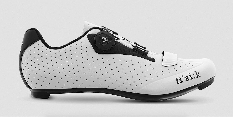 Fizik Men s R5B Uomo BOA Road Cycling Shoes – White Black White Black – 42
