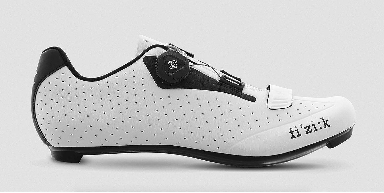 Fizik Men s R5B Uomo BOA Road Cycling Shoes – White Black White Black – 45