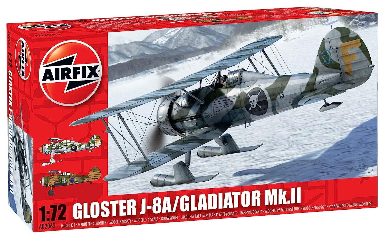 Amazon.com: Airfix Gloster Gladiator J-8A/Gladiator Mk.II ...