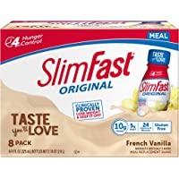 SlimFast Original French Vanilla Shake – Ready to Drink Weight Loss Meal Replacement – 10 of protein – 11 fl. oz. Bottle…