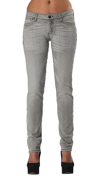 Amazon.com: Elástico Gris claro Skinny Jeans | Mujer Juniors ...