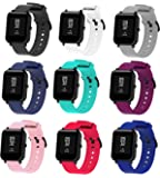 BOLESI 9PCS Bands Replacement for Amazfit Bip Smart watch and Sumsung Galaxy Watch Active 2 / Galaxy Watch 3 41mm, Quick…
