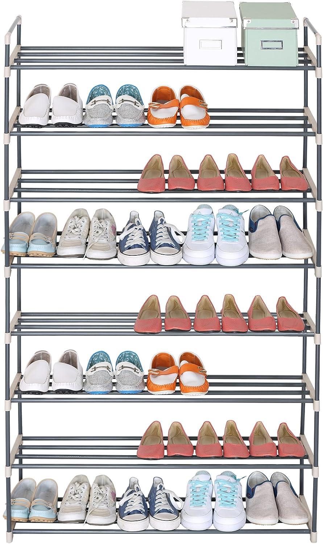 beige WOLTU/® SR0019-a Schuhregal Schuhst/änder Schuhablage XXXL St/änder Regale 92x30x154cm 8 Schicht f/ür 40 Paare Schuhe
