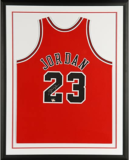 e260ab91e17 Michael Jordan Chicago Bulls Framed Autographed 1997-98 Mitchell   Ness Red  Jersey - Upper Deck - Fanatics Authentic Certified at Amazon s Sports ...