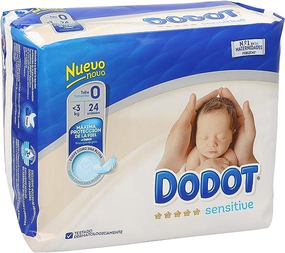 DODOT Sensitive pañales recién nacido <3 kgs talla 0 paquete 24 ...