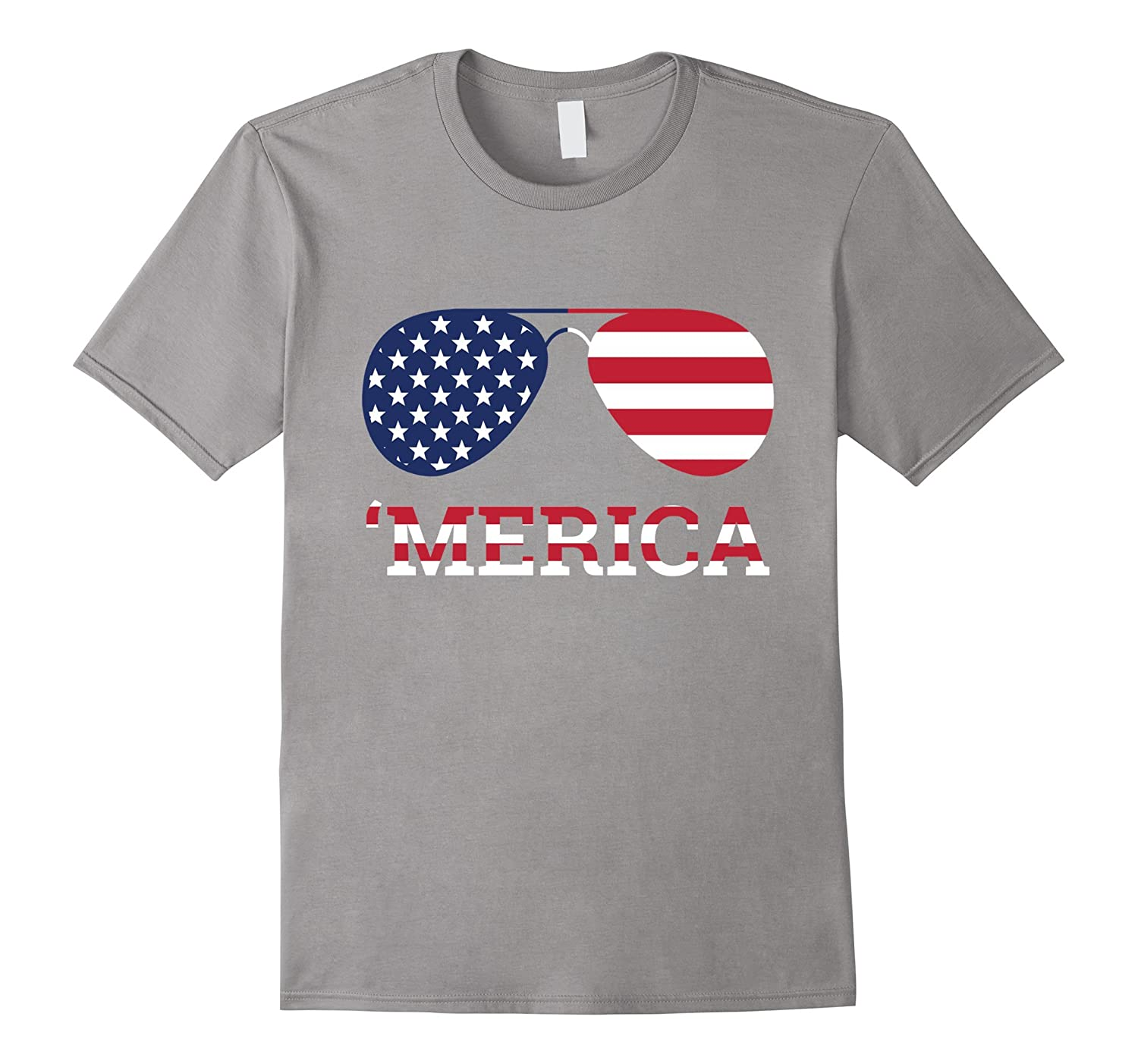 'Merica - Aviator Sunglasses & American Flag Shirt-TH
