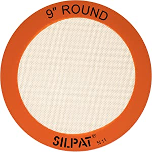 "Silpat AH222-01 Round Cake Liner Non-Stick Silicone Baking Mat, 9"""