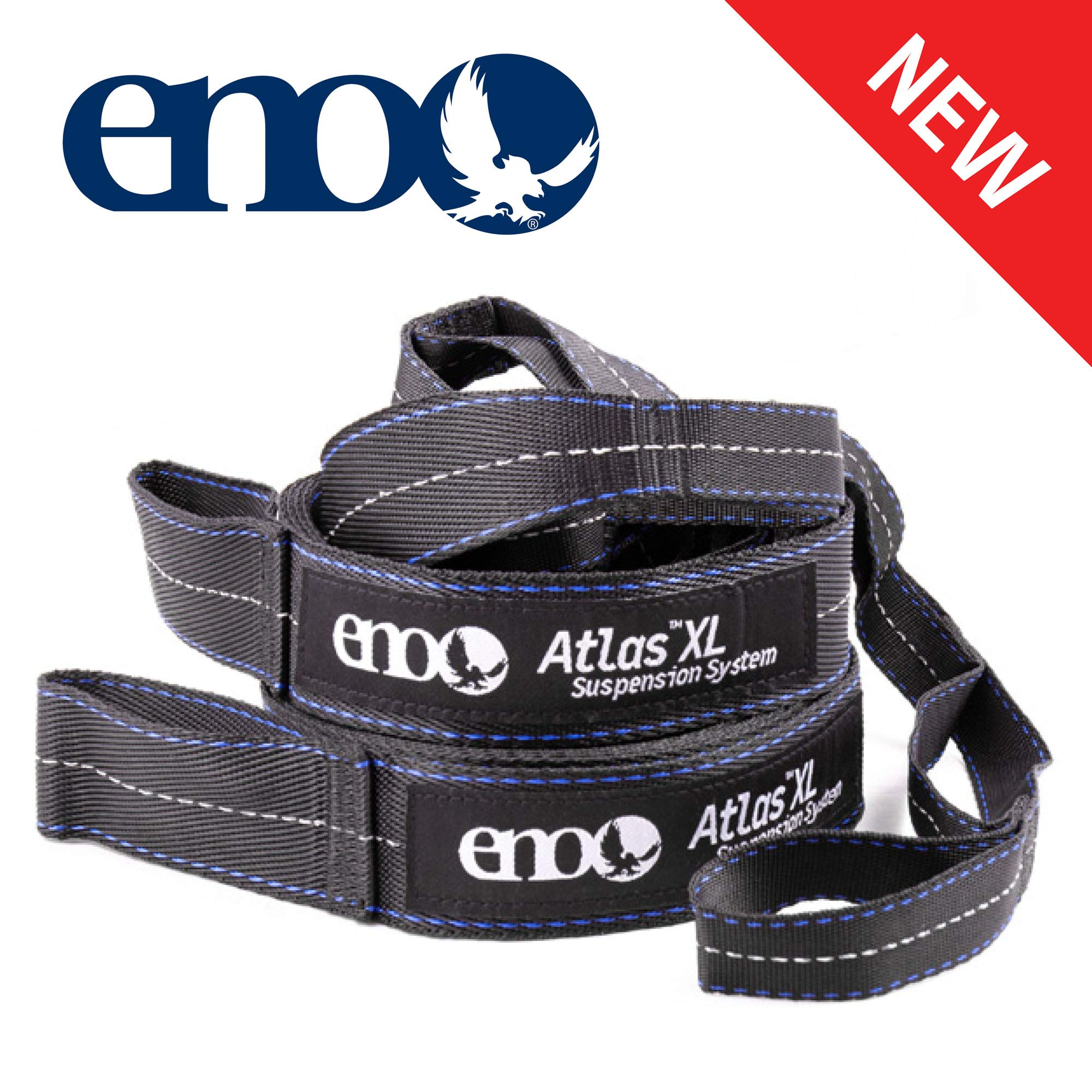 ENO - Eagles Nest Outfitters Atlas XL Hammock Straps, Suspension System, 400 LB Capacity, 13'6'' x 1.5/.75'' by ENO