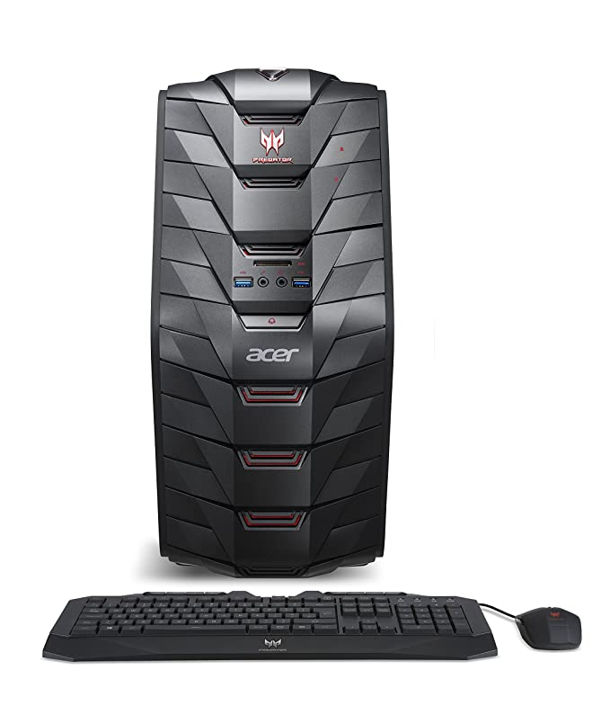 Acer Predator Desktop,7th Gen Intel Core i5-7400, NVIDIA GeForce GTX 1060,  12GB DDR4, 128GB SSD, 1TB HDD, Win 10, G3-710-UR11
