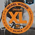 D'Addario Light Top/Heavy Bottom 10-74 8-String Nickel Wound Electric Guitar Strings