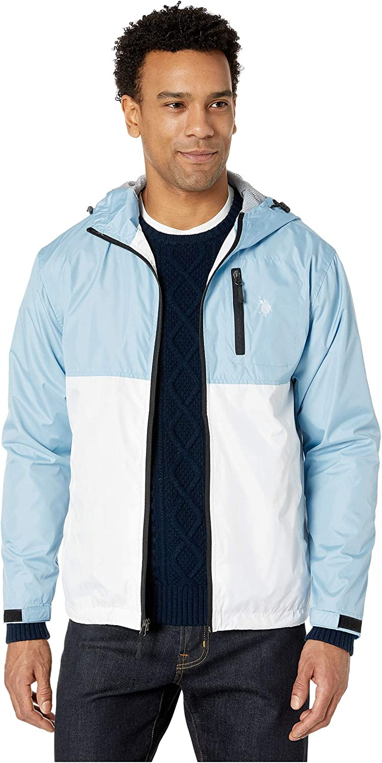U.S. Polo Assn. Hooded Color-Block Windbreaker