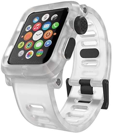 buy popular 545ed dcd50 LUNATIK EPIK Polycarbonate Case and Silicone Strap for Apple Watch Series  1, Clear/Clear