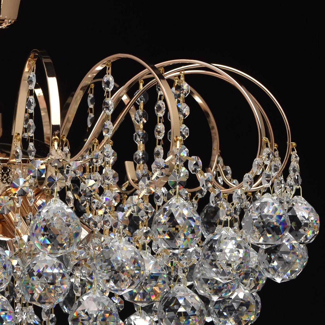Lampadario da soffitto affascinante lussuoso elegante colore oro ...