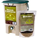 SCD Probiotics All Seasons Indoor Composter, Countertop Kitchen Compost Bin with Bokashi - Easily Compost in Your Kitchen Aft