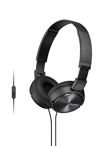 Sony ZX310AP On-Ear Headphones Compatible with Smartphones, Tablets and MP3 Devices - Metallic Black