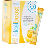 IdealBoost, Weight Loss Drink Mix Packets, Iced Tea, w/ Hunger Blocking and Energy Blends, 30 Servings…