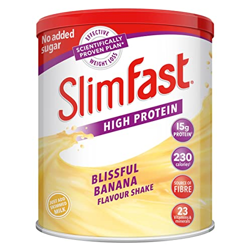 SlimFast Meal Replacement Powder Shake, Blissful Banana, 438 g